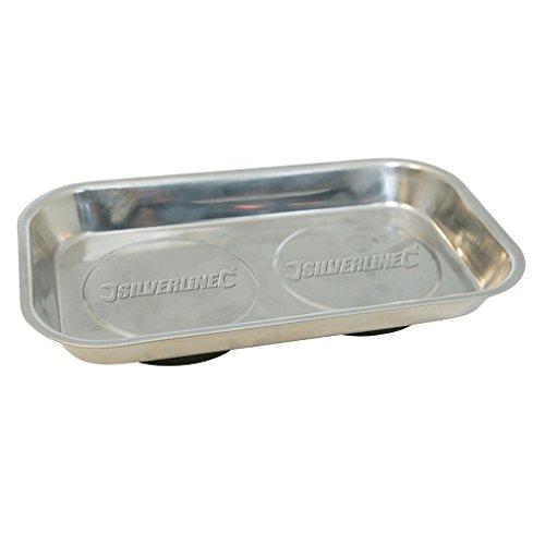 Silverline 868812 - Bandeja magnética 150 x 225 mm