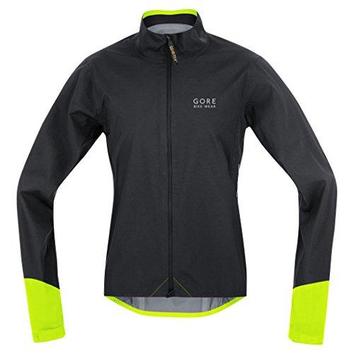 Gore Bike WEAR, Men´s, Road Cyclist Jacket, Waterproof, Gore-TEX Active, Power GT AS, Size M, Black/Neon Yellow, JGPOWR