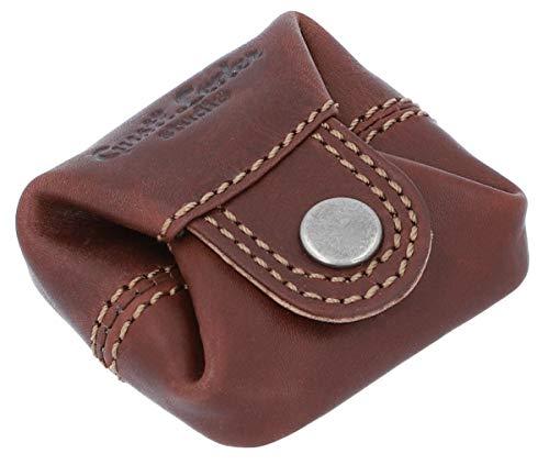 Gusti Leder portamonete in pelle - Linus borsellino da uomo e da donna portamonete piccolo marrone
