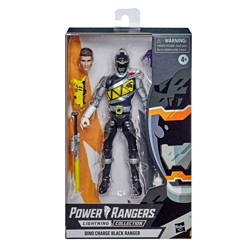 Power Rangers Lightning Collection 15 cm Dino Charge Black Ranger Premium Collectible Action Figure with Accessories