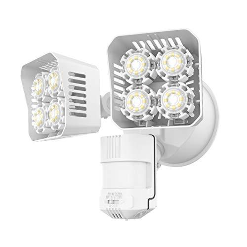 SANSI LED Security Motion Sensor Outdoor Lights, 36W (250W Incandescent Equivalent) 3600lm, 5000K Daylight, Dusk to Dawn Waterproof Flood Light, ETL Listed, White
