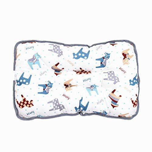 YQ&TL Almohada de algodón para niños Almohada para bebé Kindergarten Almohada de Siesta (1-6 años de Edad) Espalda estándar Amamantamiento Cojines para bebés Soother Soothers, E +