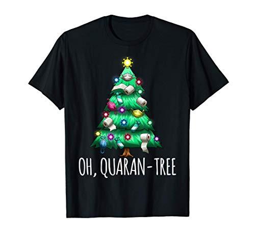 Oh, Quaran-Tree divertente albero di Natale 2020 quarantena Maglietta