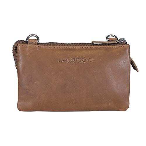 Arrigo Unisex Adult Leather clutch, Cognac, 3x10x17,5 cm