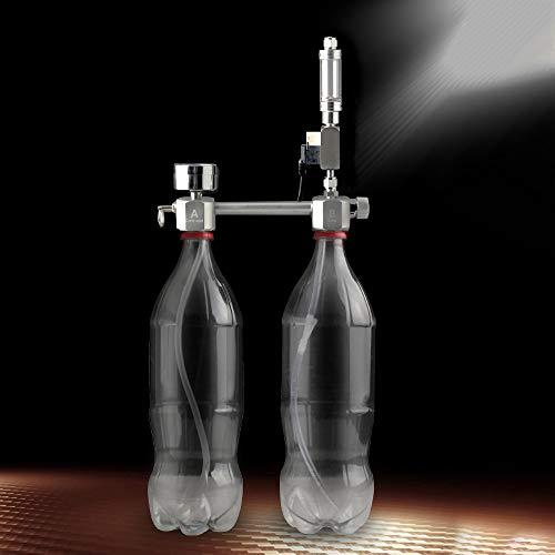 Festnight Acquario Kit Kit generatore di CO2 Fai-da-Te Sistema generatore di CO2 con elettrovalvola Contatore Bolle e Controllo Kit reattore ad anidride carbonica per Piante Acquario