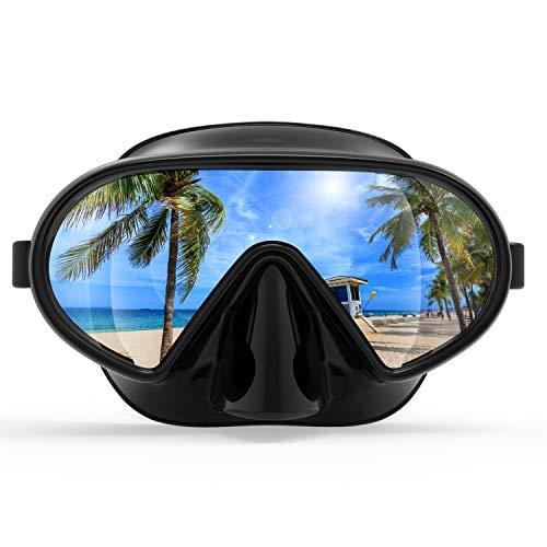 Fxexblin Natación Máscara Buceo Gafas Máscara Diving Snorkeling Swim Goggles Antiniebla Campo Visión Despejado 180° Disponible Adecuado Adultos Niños