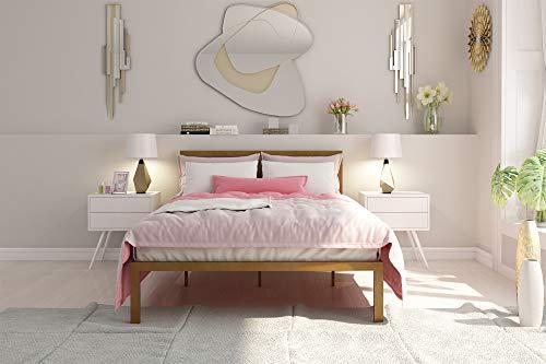 Signature Sleep Metal Platform Bed with Headboard, Full, Gold