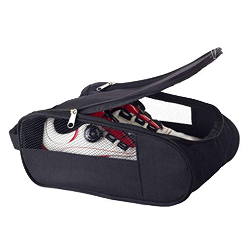 teng hong hui Golfschuhe Tasche Doppelreißverschluss Home Fall Packung Sportschuh Fall Breathable Ineinander greifen-Loch-Reisen-Staub-Beweis-Turnschuhe Organizer Sack