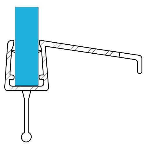 VARIOSAN Duschdichtung 10858, 100cm, für 6-8mm Glasstärke, S3, transparent