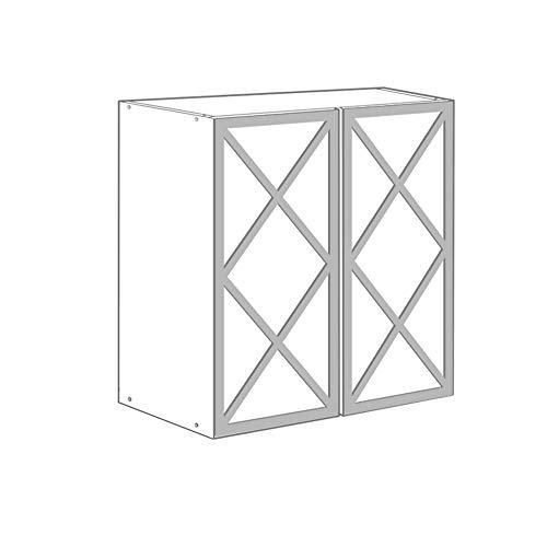 Moonwallstickers.com Ikea Ivar Kits - Apto para muebles IKEA IVAR, plateado brillante, 2 DOORS – ALMADA