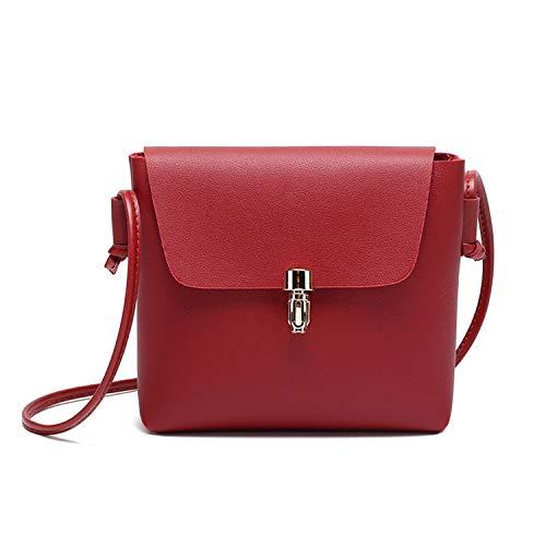 Foru Borse Ufficiali StoreNBO Mini Candy Bag Donne Messenger Borse in Pelle Vacchetta Donna Catena Tracolla Articolo: #F-in Top,Rosso, (A tinta unita), Taglia unica