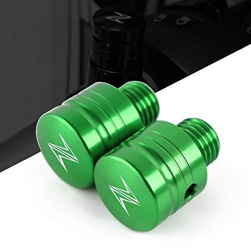 Abdeckkappenpaar Alu CNC für M10 Gewinde - Motorrad Spiegel Blindstopfen passend für Kawasaki Z1000 Z900 Z800 Z750 Z650 ZX6R ZX10R ZX9R ZX14R Z400 Z300 Z250