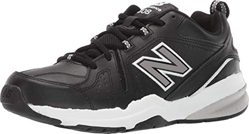 New Balance Men's 608 V5 Casual Comfort Cross Trainer, Black/White, 8 W US