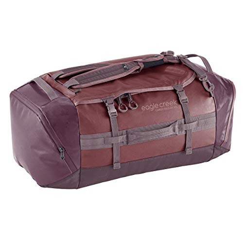 Cargo Hauler - superleichte Reisetasche mit 90 L Volumen I Robuster Rucksack für Camping und Outdoor I abrieb- & wasserbeständiges Gewebe, Earth Red