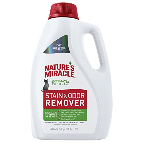 Nature's Miracle P-98152 Cat Stain and Odor Remover, Enzymatic Formula for Urine Stains, Feces Stains, Vomit Stains and Drool Stains, Odor Control,...
