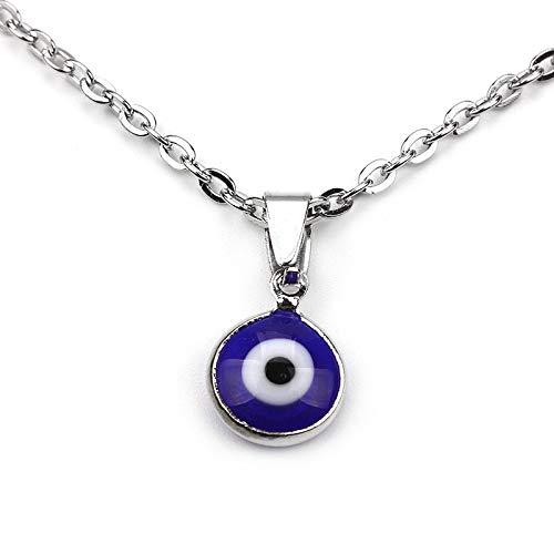 Revilium Boho Azul Turco Mal Ojo Colgante Collar Joyería Accesorio para Hombres Y Mujeres Clásico Minoría Turca Lucky Eye Collar De Chocolate