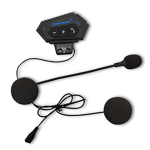 Auriculares Moto Bluetooth, Casco Auricular Portátil Bluetooth con micrófono Interfono Intercomunicador Manos Libres y FuncióN de ReduccióN de Ruido, para Variedad Casco