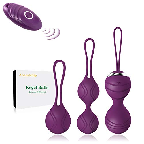 Abandship Kegel Exercise Weights for Women- Ben Wa Kegel Balls for Beginners & Advanced Pelvic Floor Exercises, 3 Weights Kegel Exercise Products Kits for Resolves Incontinence & Bladder Control