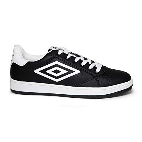 Umbro Herren-Sneaker, Modell Wimbledon 2.0, 5 Farben, Schwarz/Weiß – 42 EU
