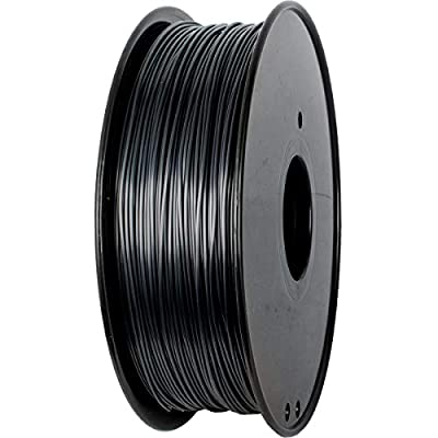PLA Filament 1.75mm Silk Black, Geeetech Silk 3D Printer Filament PLA 1.75mm for 3D Printer and 3D Pen, 1kg 1 Spool
