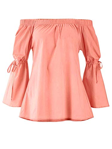 Heine Carmenbluse pfirsich Gr 34 bis 48 Bluse Shirt Tunika Carmen (34)