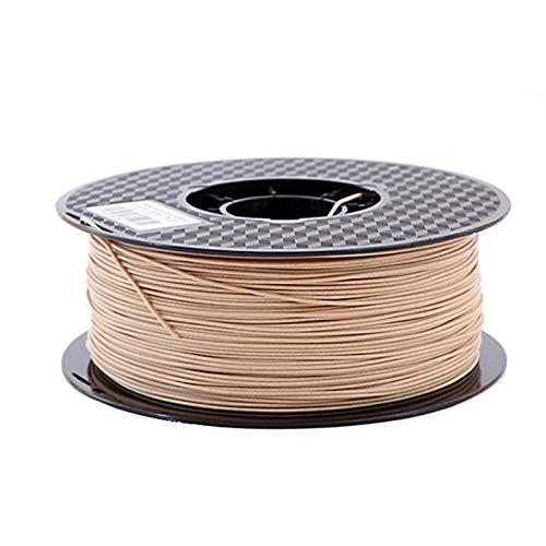 ZOBOLA 3D Printer Filament Wood Color 3D Printing Materials 1.75mm PLA Wood Filament For 3D Printer And Pen (Color : Light wood, Size : 500 g)