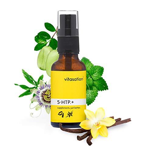 vitasation® 5-HTP.+ - [Das Original] Mundspray mit 5-HTP - Veganes Mundspray für mehr Wohlbefinden im Alltag - Enthält die Vorstufe von Serotonin & Melatonin - [ 5HTP Spray für 30 Tage ]
