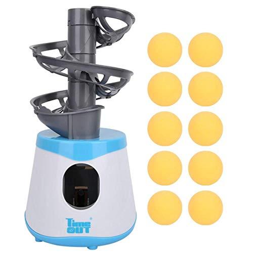 Vbest life Máquina de Pelota de Tenis de Mesa portátil para niños al Aire Libre, Lanzador de Ping Pong, ejercitador, Robot de Tenis de Mesa