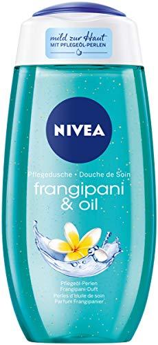 NIVEA Pflegedusche Frangipani & Oil (250 ml), erfrischendes Duschgel mit wertvollen Ölperlen, verwöhnende Dusche mit dem zarten Duft der Frangipaniblüte