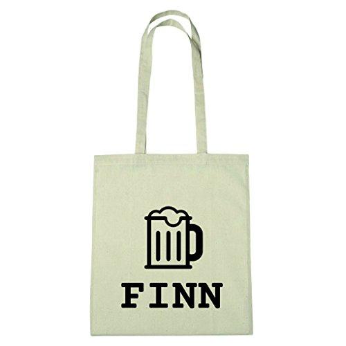 JOllify Baumwolltasche - Happy Birthday für FINN - Bier Gruß