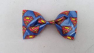 Superman Bobby Pin Hair Bow or Bow Tie