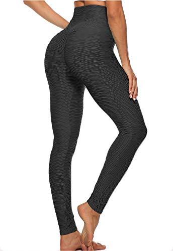 FITTOO Mallas Leggings Mujer Pantalones Deportivos oga Alta Cintura Elásticos Transpirables Negro L