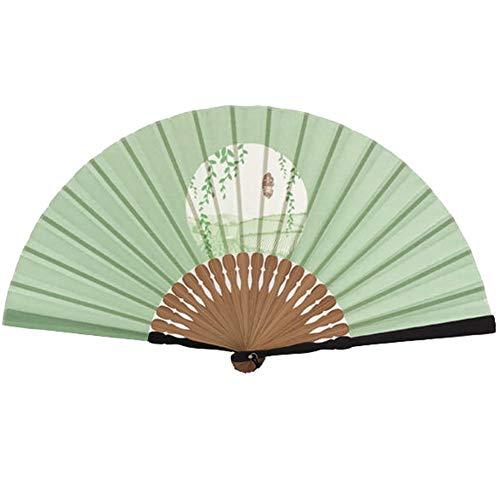Folding Fan - Gift Chinese Stijl Japanse bamboe handvat Kimono katoen en linnen patroon zomer geschenkdoos
