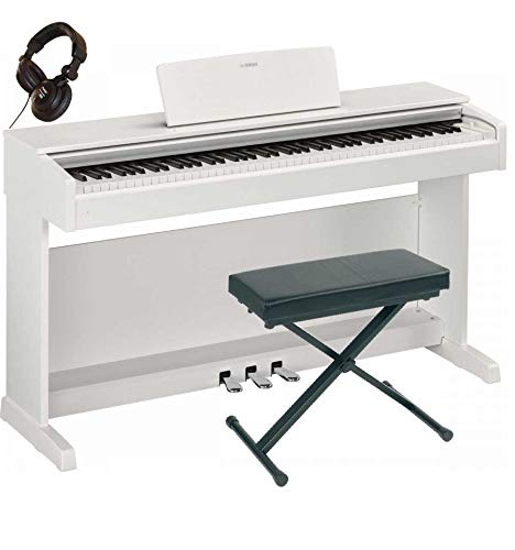 Yamaha YDP-143 WH - Pianoforte digitale + panca + casco