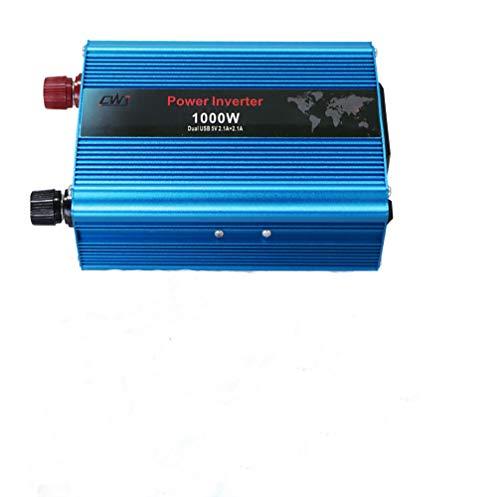 LBWLB sinus omvormer 12 V naar 230 V/1000 W stroomomvormer 12 op 230/stopcontact auto adapter/autoomvormer, inverter, incl. Auto sigarettenpakje stekker