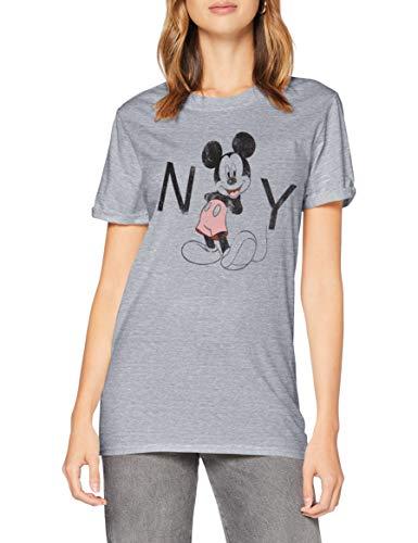 Disney New York T-Shirt, Grigio (Sport Grey Spo), 46(Dimensioni Produttore: Large) Donna