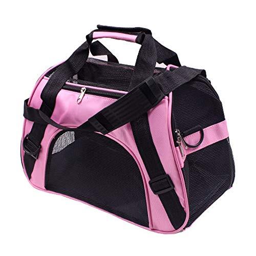 PUAO Sac de transport portable pour animal domestique, sac à main pour chien, chiot, animal de compagnie approuvé par les compagnies aériennes pour chats et chiens de petite taille rose rose M