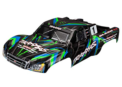 Traxxas TRA6816G Body, Slash 4X4, Green (Painted, Decals Applied)