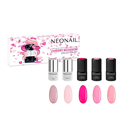 NEONAIL Cherry Blossom Set 5x Nagellack 3ml Beige, Pink
