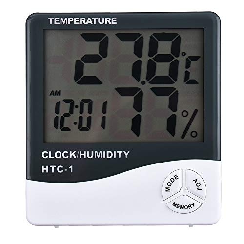 Jourbon Thermometer Hygrometer HTC-1 Feuchtemessung Thermometer LCD Display Indoor Außentemperatur