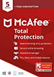 McAfee Total Protection, 5 Device, Antivirus Software,...