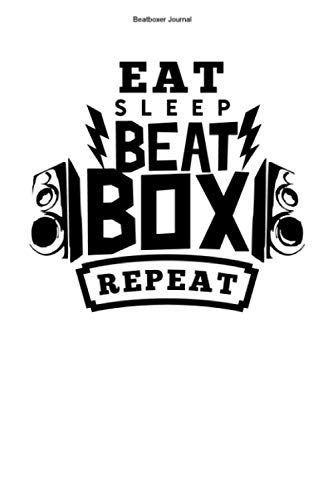 Beatboxer Journal: 100 Pages | Dot Grid Interior | Mic Beat Box Team Hobby Rapping Beats Music Gift Sound Rap Beatboxers Rapper Microphone