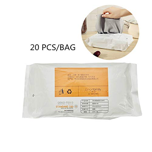 JIAXIA Productos de Limpieza 20pcs / Bag Micro Fibra Paños de Microfibra Perezosa Extracción de servilletas Servilleta desechable/Plumero/servilletas/paño de Cocina 20PCS 20-20CM Gris
