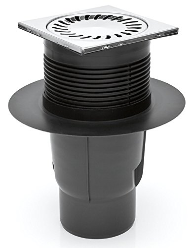 MCH Hofablauf Kellerablauf Gitterrost aus Edelstahl DN 110 150 x 150 mm 327 S N