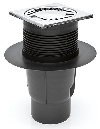 Hofablauf Kellerablauf Gitterrost aus Edelstahl DN 110 150 x 150 mm 327 S N