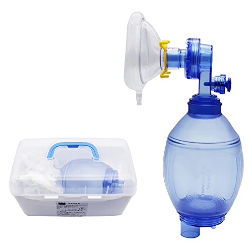 Respirador Manual De PVC Simple, Bolsa De Aire De Respiración De Emergencia Para RCP Artificial Portátil, Herramienta De Primeros Auxilios Adecuada Para Hospitales Familiares Para Adultos Y Niños