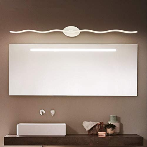 Badkamerspiegel-lampen in gegolfde vorm, van aluminium, led, badkamer, make-upspiegel, koplampen, waterdicht, anti-condens, voor thuis, make-uptafel