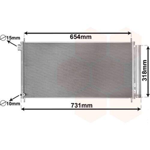 Condensatore di climatizzazione con bottiglia deshydratante per Toyota Auris di Apres 2013versione 2.0D4D