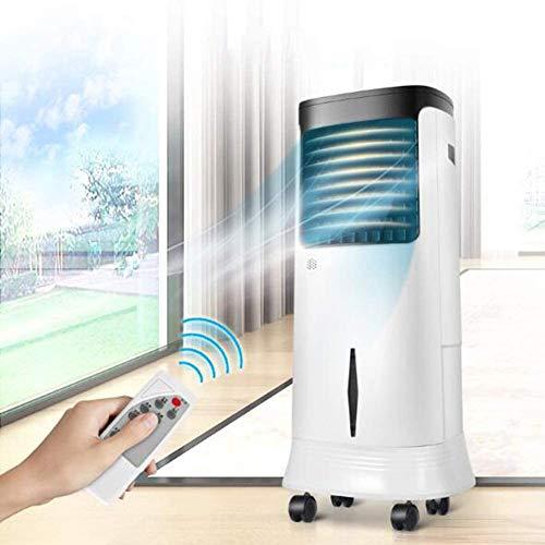 L.HPT - Aire acondicionado portátil con mando a distancia, enfriador evaporativo silencioso, sincronización de 3 velocidades, móvil de ahorro de energía con rueda universal