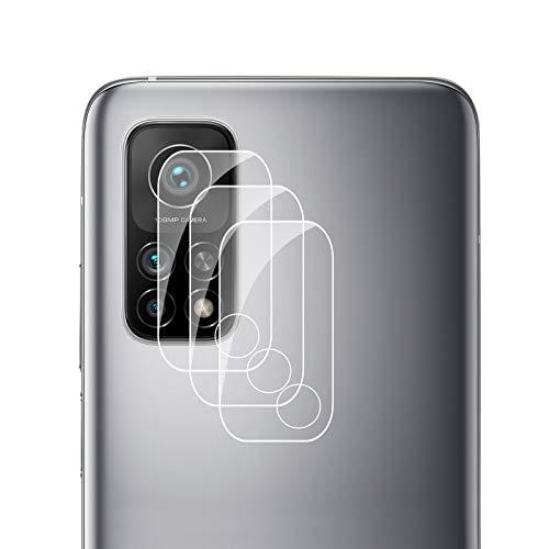 Zidwzidwei Protector de Lente de Cámara para Xiaomi Mi 10T 5G [3-Pack], 9H Dureza, Anti-Rasguños HD sin Burbujas Vidrio Templado, Ultradelgado Xiaomi Mi 10T 5G Protector Cámara Trasera